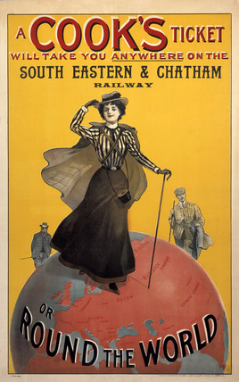 'A Cook's Ticket', SE&CR poster, 1910.