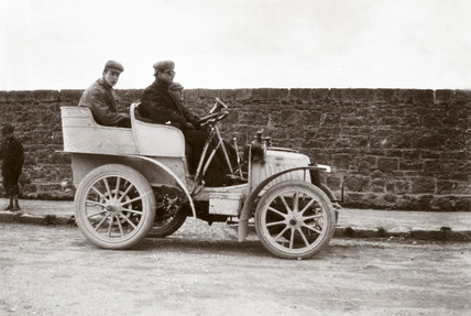 C S Rolls' car at the Gordon Bennett Trophy Race, Athy, Ireland, 1903.
