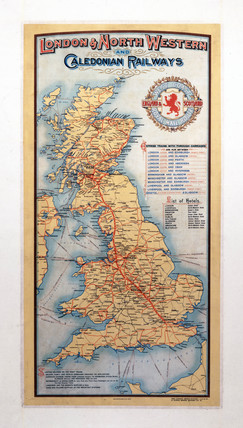 'London & North Western and Caledonian Railways', poster, c 1920.
