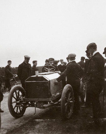 C S Rolls' Napier during the elimination trial for the Gordon Bennett Trophy, 1903.