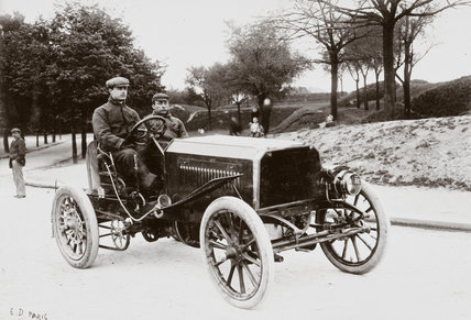 C S Rolls' Panhard Racer, Paris-Madrid Race 1903.