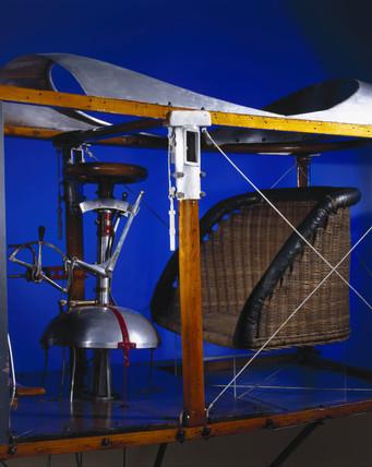 Control mechanism of Bleriot's monoplane, 1909.