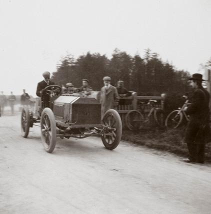 C S Rolls' Napier during the elimination trial for the Gordon Bennett Trophy, 1903.