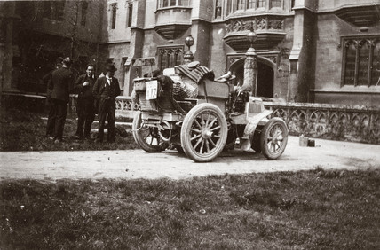 C S Rolls' 12 hp Panhard in Yorkshire during the 1000 Mile Trial, 1900.