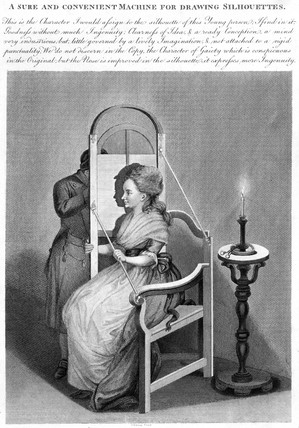 'A Sure and Convenient Machine for Drawing Silhouettes', c 1790.