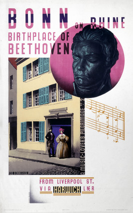 'Bonn on Rhine, Birthplace of Beethoven', LNER poster, 1931.