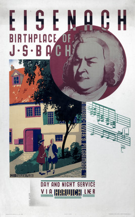 'Eisenach, Birthplace of Beethoven', LNER poster, 1931.