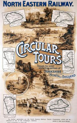 'Circular Tours', NER poster, c 1920.