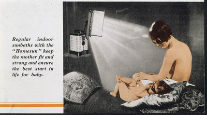 A 'Homesun' solarium advertisement, 1939. A
