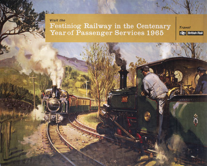 'Visit the Festiniog Railway in the centenary Year...', BR poster, 1965.