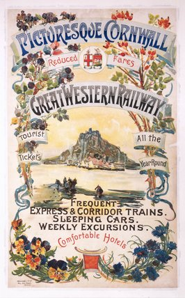 Picturesque Cornwall', GWR poster, 1897.