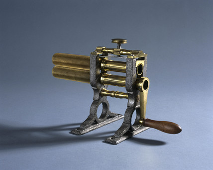 Crimping machine, c 1880.