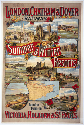 'Summer & Winter Resorts', LC&DR poster, 1897.