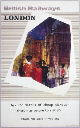 'London', BR(ER) poster, 1964.