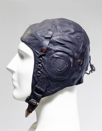 Leather flying helmet, c 1939-1945.