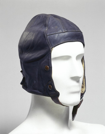 Leather flying helmet, Air Ministry, c 1920.