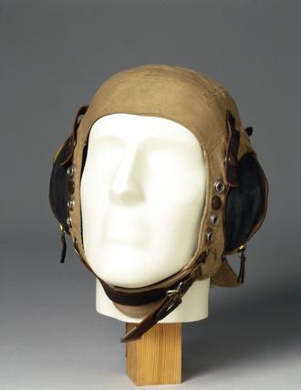 Fabric flying helmet, c WWII.