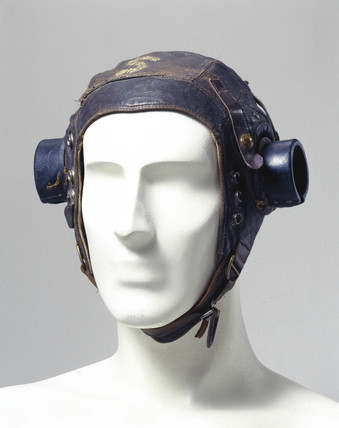 Leather flying helmet, c 1944.