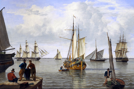 'Shipping in the Thames Estuary', 1820.
