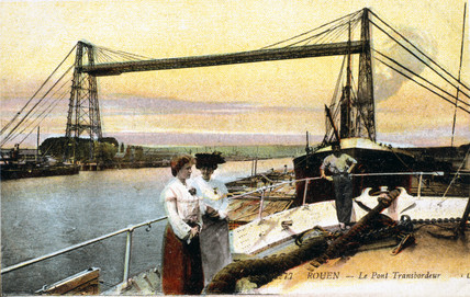 Transporter Bridge, Rouen, France, 1914-1918.