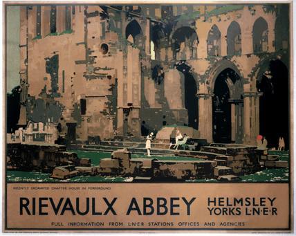 'Rievaulx Abbey, Helmsley, Yorks', LNER poster, 1933.
