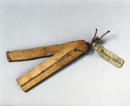 Pair of baker's tallies, 17th century.