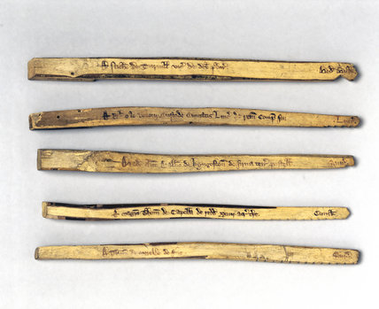 Exchequer tallies, c 1440.