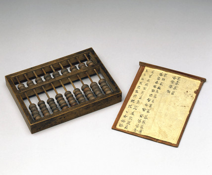 Chinese abacus, early to mid 19th century.