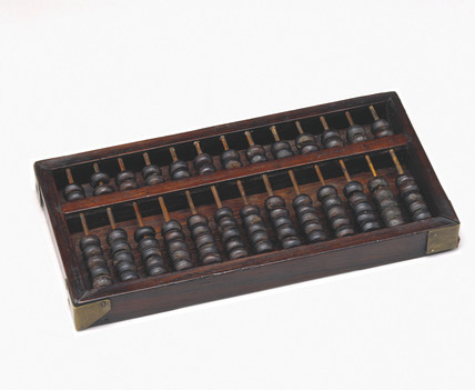 Chinese abacus or Suan Pan, 19th century.