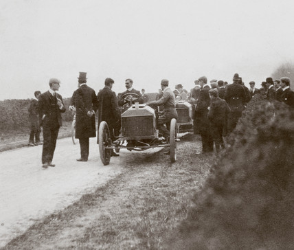 J Stocks' Napier at the Gordon Bennett Trophy race, Athy, Ireland, 1903.
