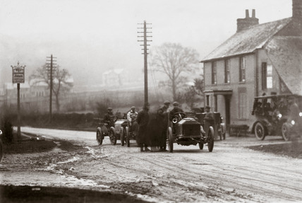 View of Dashwood Hill Climb, Buckinghamshire, 1903.