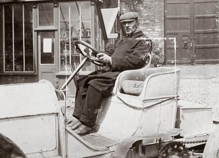 Camille Jenatzy, winner of the Gordon Bennett Trophy race, Athy, Ireland, 1903.