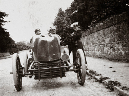 Fernand Gabriel's Mors at the Gordon Bennett Trophy race, Athy, Ireland, 1903.