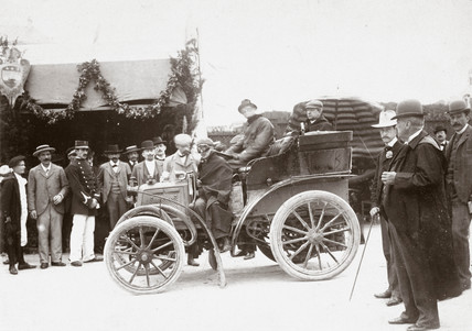 C S Rolls' car, tourist section winner of the Bordeaux-Biarritz race, France, 1899.