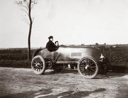C S Rolls in his 100 hp Mors Racer, 1904.