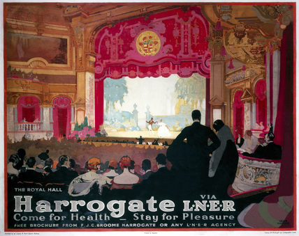 'Harrogate: Come for Health, Stay for Pleasure', LNER poster, 1930.
