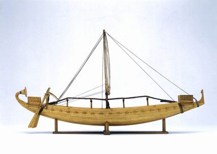 Egyptian seagoing sailing ship, c 1500 BC.