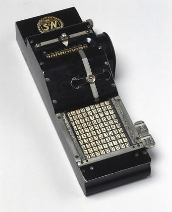 Adding machine, c 1910.