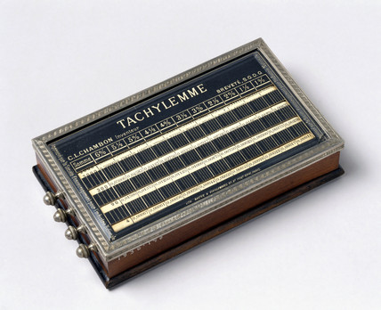 The 'Tachylemme' ready reckoner, c 1876.