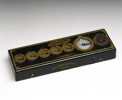 Cordingley's computometer, adding machine, c 1900.