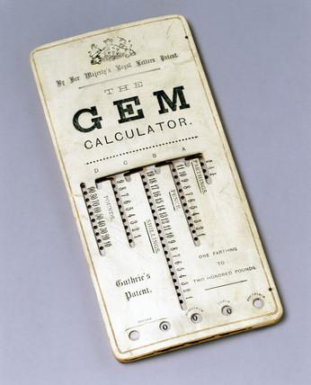 GEM calculator, 1890.