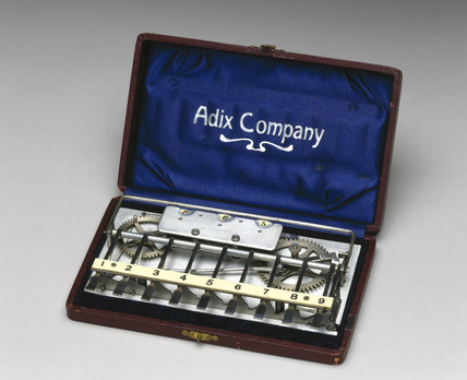 'Adix' adding machine, German, c 1905.