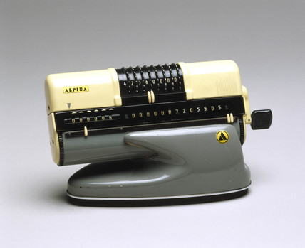 Alpina mechanical calculator, German, 1961.