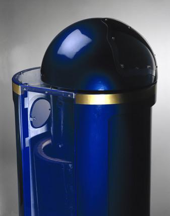 Blast-proof bin, 2001.