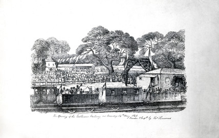 'The Opening of the Eastbourne Railway on Monday 14 May 1849'.