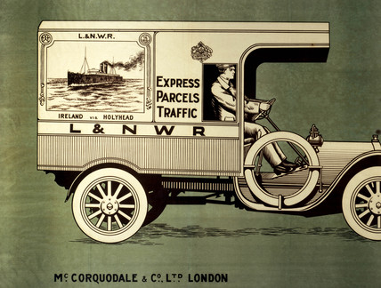 'Expres Parcels Traffic', L&NWR poster, 1920.