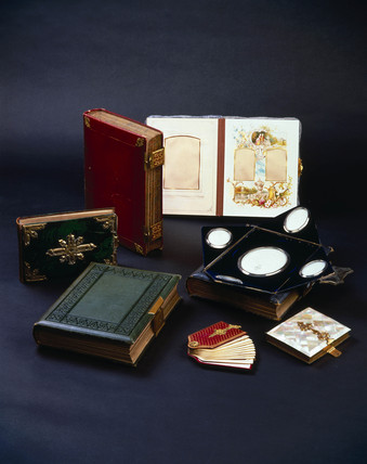 Photograph albums, 19th century.