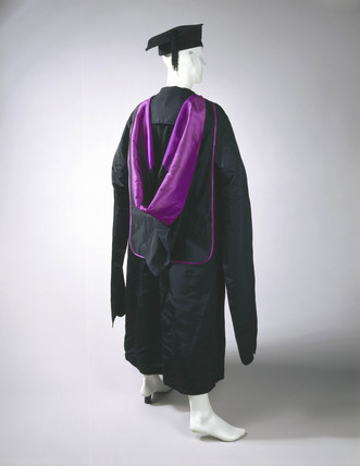 Academic gown, hood and mortar board, 1895.