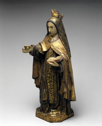 Statue of St Teresa of Avila, 1701-1800.