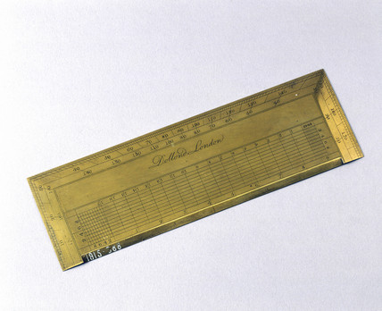 Rectangular protractor, late 18th century.